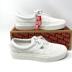 VANS Era Platform Animal White Leather Sneakers M